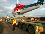 Offloading the machine in Zeebrugge, Belgium (I'm helping)
