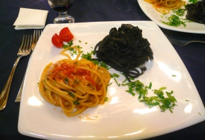 Squid Ink and Seafood Spaghetti