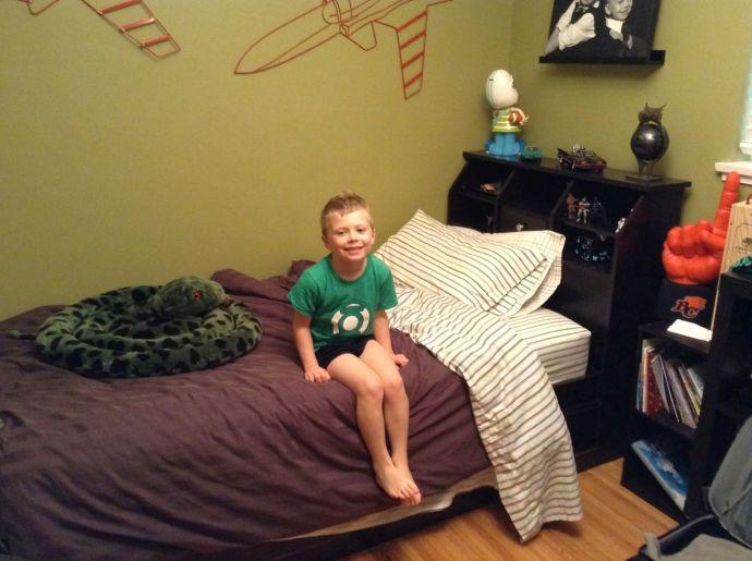 Logan's bed